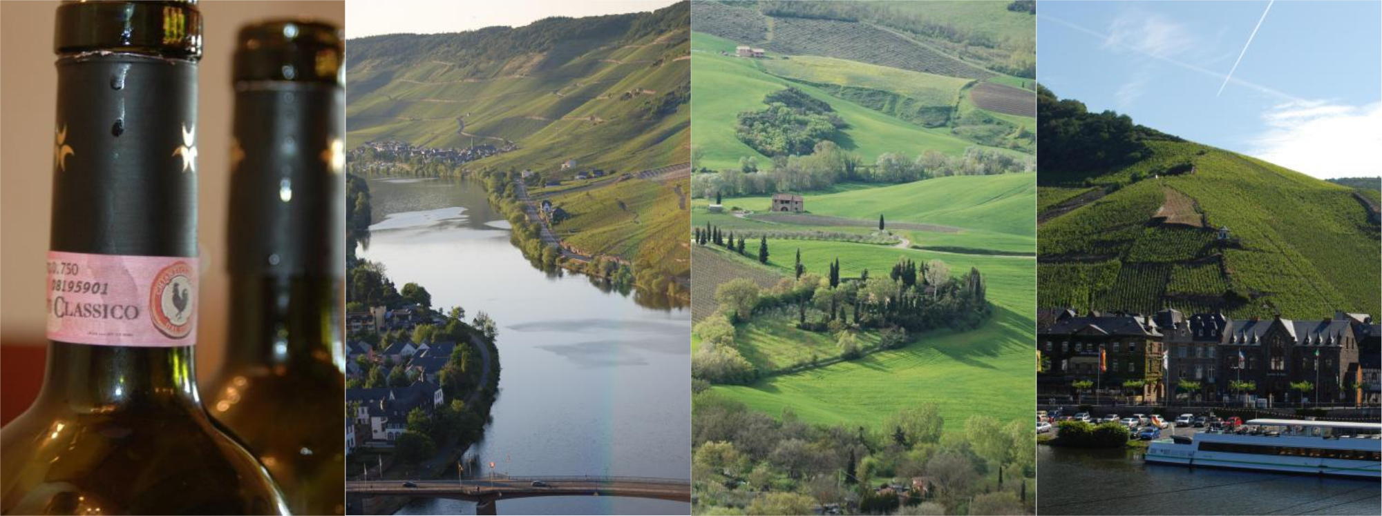 Piemonte, Toscana, Mosel, Champagne...